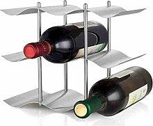 Edelstahl-Weinregal, bietet Platz für 9 Flaschen