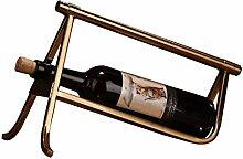 Edelstahl Weinregal Kann eine Flasche Bronze