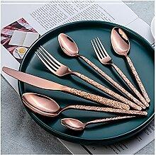 Edelstahl Western Besteck Set Messer Gabel Spoon