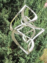 Edelstahl Windspiel Windspinner Double Spinner, 50