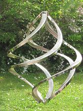 Edelstahl Windspiel Windspinner Quattro, 38 cm