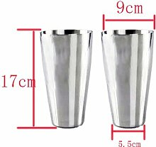 Edelstahlbecher 2 Stück, Silber, 0.75 Liter, Bierbecher Trinkbecher