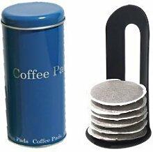 Edelstahldesign Vorratsdose mit Lift für Tee- und Kaffeepads