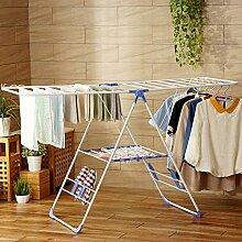 Edelstahlgestell trocknen,Tragfläche form boden falten trocknen rack indoor schlafzimmer einfach kind windel rack baby baby kleiderbügel-A
