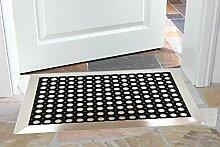Edelstahlrahmen mit Fußmatten, Ringgummi-Matte