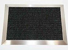 Edelstahlrahmen mit Polypropylen-Fußmatte 110x60