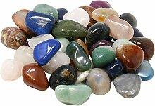 Edelstein Trommelsteine im Mix, 1 kg, große Steine 3-4 cm/35-40 Steine