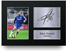 Eden Hazard unterzeichnet A4bedruckt Autogramm, Chelsea Foto Display–tolle Geschenkidee