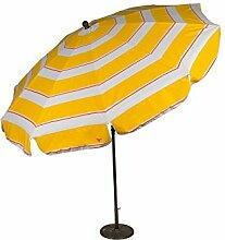 Edenia Sonnenschirm–Durchmesser 240cm, San Remo, gelb/weiß, 240x 240x 10cm,,, 009744
