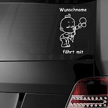 eDesign24 Baby fährt mit Autoaufkleber Auto