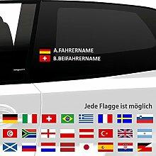 eDesign24 - Fahrername und Beifahrername mit