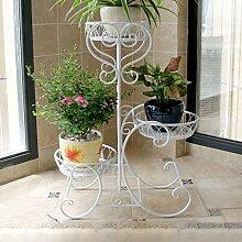 Edge to Blumenregale European Flower Racks Iron Multi - Storey Balkon Innenboden - Stil Pastoral Pflanze Racks Töpfe Regal ( Farbe : C )