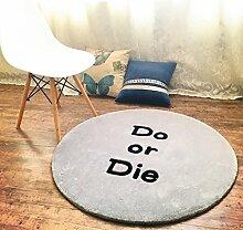 Edge to Britischen Retro runden Teppich handgefertigten Acryl verdickten Wohnzimmer Schlafzimmer Computer Stuhl Decke ( Farbe : A , größe : 100*100cm )