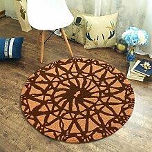 Edge to Circular Wohnzimmer Teppich Schlafzimmer Nacht einfachen Korb Computer Stuhl Matten ( Farbe : D , größe : 100*100cm )