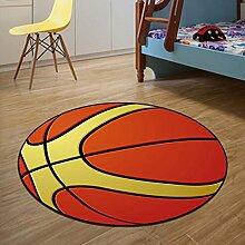 Edge to DIY Karikatur-Frucht-runder Teppich-Wohnzimmer-Yoga-Auflage-Korb-Hoist-Stuhl-Hocker-Computer-Stuhl-Kissen-Teppich ( Farbe : F , größe : Diameter 80cm )
