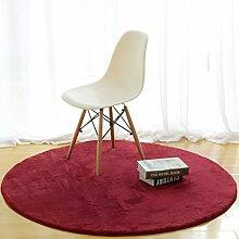 Edge to Einfache runde Teppich Tee Tisch Schlafzimmer Wohnzimmer Hängende Korb Decke Home Solid Color Computer Stuhl Matten ( Farbe : E , größe : Diameter 180CM )