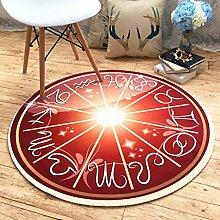 Edge to European Style Tide Monkey Teppich Wohnzimmer Kinderzimmer Bedside Blanket Korb Computer Stuhl Cartoon Runde Teppich ( größe : 140CM*140CM )