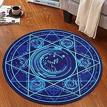 Edge to Magic Array Kinder runden Teppich Schlafzimmer Computer Stuhl Swivel Basket Korb Mats ( Farbe : A , größe : Diameter 100cm )