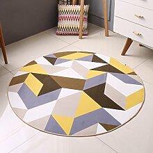 Edge to Moderne einfache geometrische kreisförmige Teppich Schlafzimmer Wohnzimmer Nordic Teppich Bedside Computer Stuhl Kissen ( Farbe : Diameter 160CM )