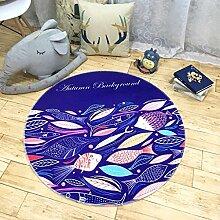 Edge to Runde Teppich Computer Stuhl Schwenk Pad Wohnzimmer Schlafzimmer Couchtisch Study Basket Basket Teppich ( Farbe : C , größe : 120*120cm )