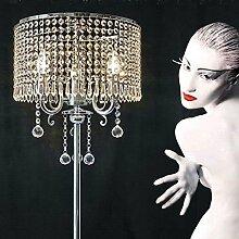 Edge to Stehlampe European Style Modern Romantic LED Bedside Study Wohnzimmer Schlafzimmer K9 Crystal Stehleuchte