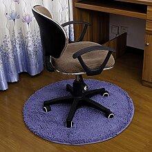 Edge to Teppich Computer Stuhl Matte Schlafzimmer Home Teppich Schlafzimmer Matte Drehstuhl Matte Runde Matte Teppich ( Farbe : C , größe : Diameter 80cm )