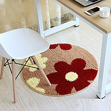 Edge to Verdickte runde Matten Korbmatten Non - Slip Computer Stuhl Kissen Schwenkkissen Matten ( Farbe : A , größe : Durchmesser 60cm )