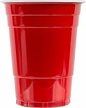 EDI PP-Partybecher, Rot, 473 ml, 100 Stück 16 Oz