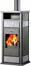 Edilkamin E624710 Kaminofen wasserführend Klima CS 14,9 kW mit Warmhaltefach
