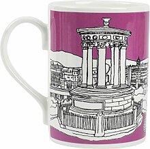 Edinburgh Calton Hill Bone China Becher pink