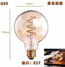 Edison-Spiral-LED-Lampe, mit Diamant-Gold-Tönung,