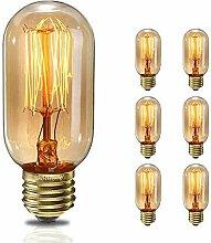 Edison Vintage Glühbirne, E27 T45 40W Retro