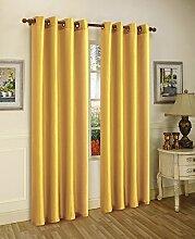 Editex Heimtextilien Elaine Fenster Panel, 58von 241cm, gelb