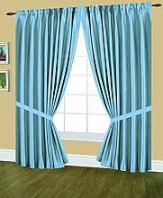 Editex Heimtextilien Elaine gefüttert Pinch Plissee Fenster Vorhang, 144von 63-inch, hellblau