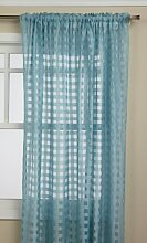 Editex Heimtextilien Leana Fenster Collection, hellblau, Window Panel 56 x 84-inch