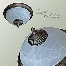 Edle Außenlampe in Antik -Gold 2x E27 Fassungen