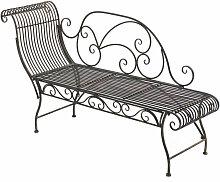 Edle Gartenbank Partogus aus Eisen-bronze