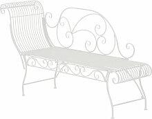 Edle Gartenbank Partogus aus Eisen-weiß