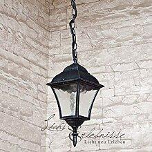 Edle Hängeleuchte Deckenlampe in antik-silber
