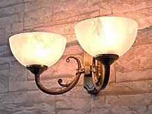 Edle Jugendstil Wohnzimmerlampe 2-flammig 2x E14