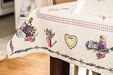 Edle Lavendel Tischdecke 140x180cm Gobelin Stoff