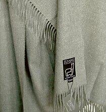 Edle leichte hellgraue Wolldecke aus Babyalpaka