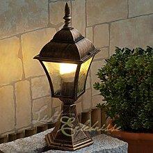 Edle Sockelleuchte Stehlampe in antik-gold