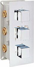 Edle Thermostat-Unterputz-Duscharmatur UP11-02 mit