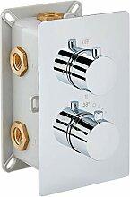 Edle Thermostat-Unterputz-Duscharmatur UP12-01 mit