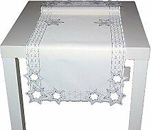 edle Tischdecke 40x100 cm Weihnachten Sekt STERNE