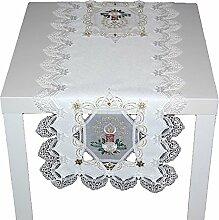 edle und hochwertige Tischdecke WEIHNACHTEN Sekt