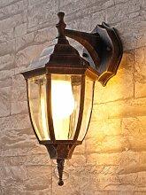 Edle Wand- Aussenleuchte in antik LE 2/1/830 down aus Aluguss Außenlampe Wandleuchte