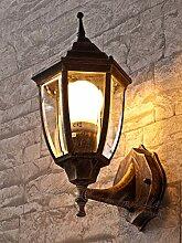 Edle Wand LED Energiespar-Aussenleuchte 5 Watt in