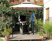 edler Pavillon für Grill oder Terrasse Grillpavillon mit Abzug 240 x150